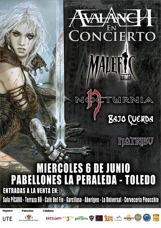 AVALANCH en Toledo junto a NOCTURNIA, BAJO CUERDA y NATRIBU