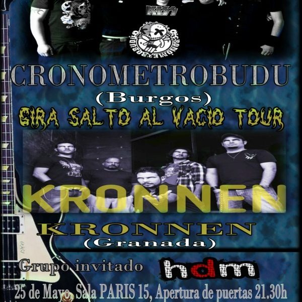 CRONOMETROBUDU, KRONNEN y HDM en Málaga el 25 de mayo