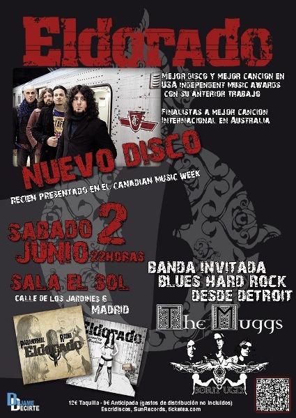 ELDORADO junto a THE MUGGS el 2 de junio en Madrid