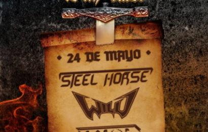 STEEL HORSE + WILD + CICLON en directo en sala Excalibur (Madrid)