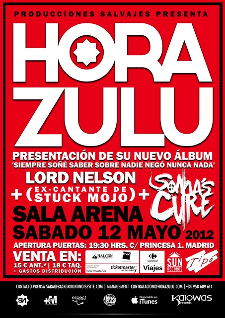 HORA ZULU este sábado en Madrid