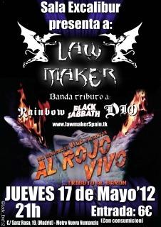 LAW MAKER y BARON AL ROJO VIVO mañana jueves en Madrid