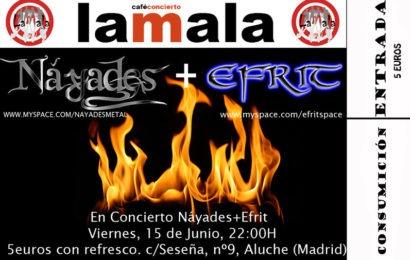 NÁYADES vuelven a tocar en Madrid, esta vez junto a EFRIT