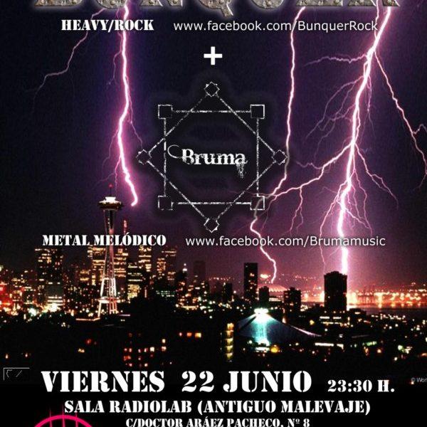 BUNQUER y BRUMA en Almería el viernes 22 de junio: entrada gratis