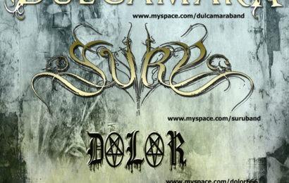 DULCAMARA+SURU+DOLOR, en concierto este sábado 16 de junio
