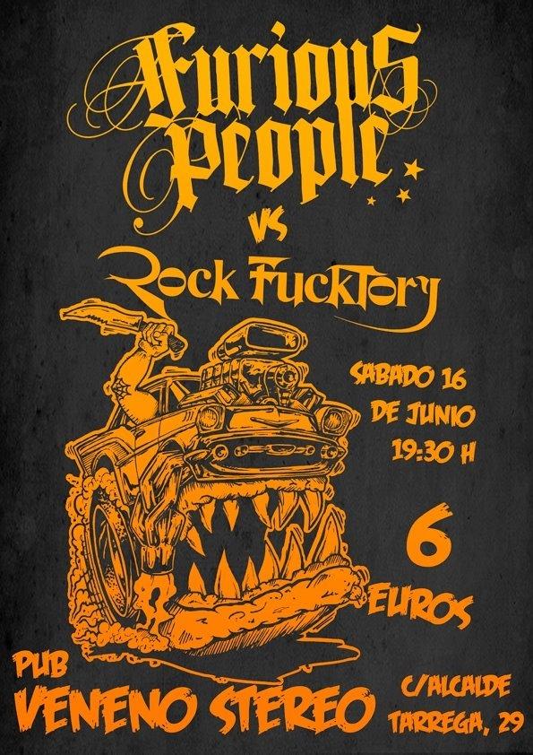 FURIOUS PEOPLE y ROCK FUCKTORY en Castellón