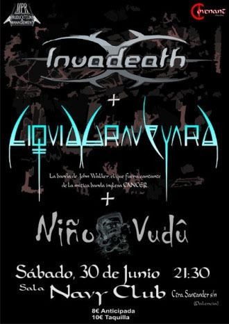 INVADEATH + LIQUID GRAVEYARD + NIÑO VUDÚ en Palencia