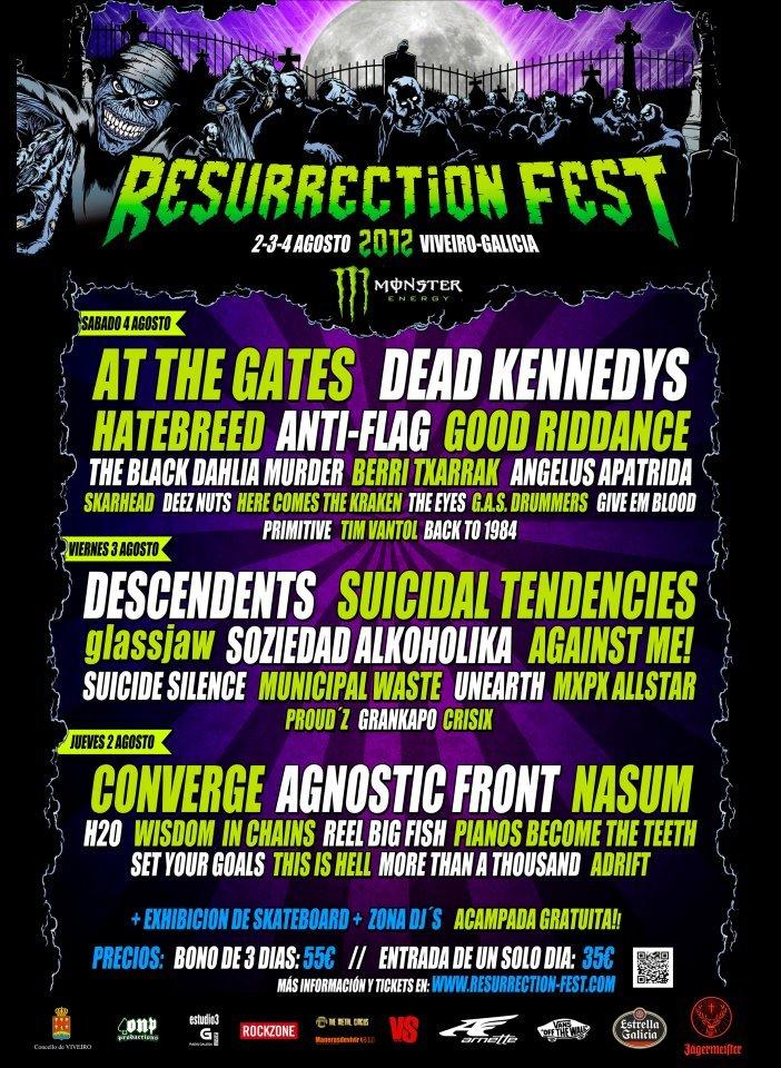 RESURRECTION FEST 2012 – Nuevas confirmaciones