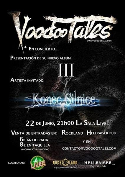 VOODOO TALES en concierto para presentar su nuevo disco