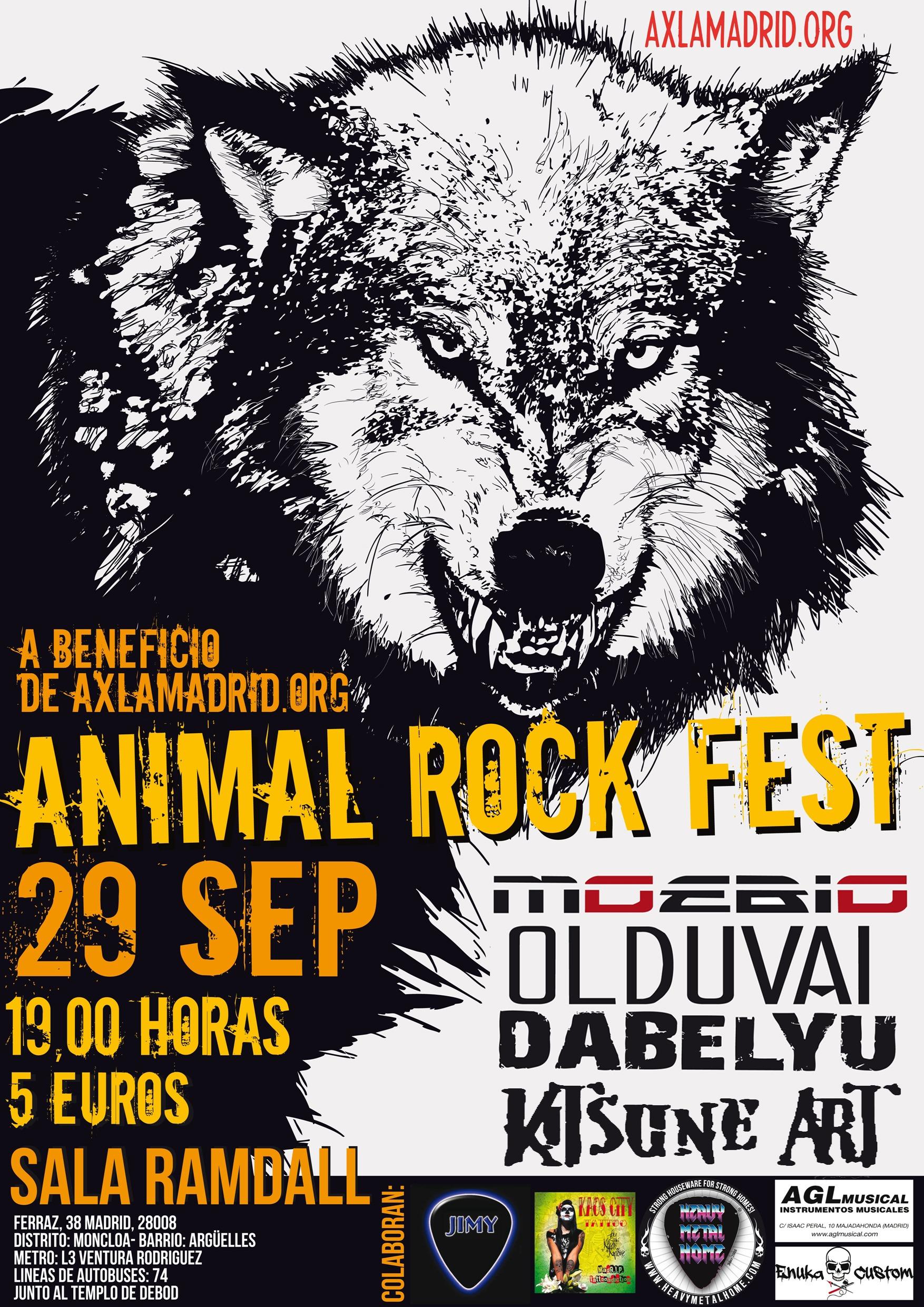 ANIMAL ROCK FEST, 29 de septiembre en Madrid.