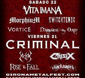 GIRONA METAL FEST – 21 y 22 de septiembre