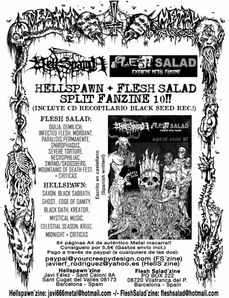 FLESH SALAD Y HELLSPAWN sale el Splitzine nº 10