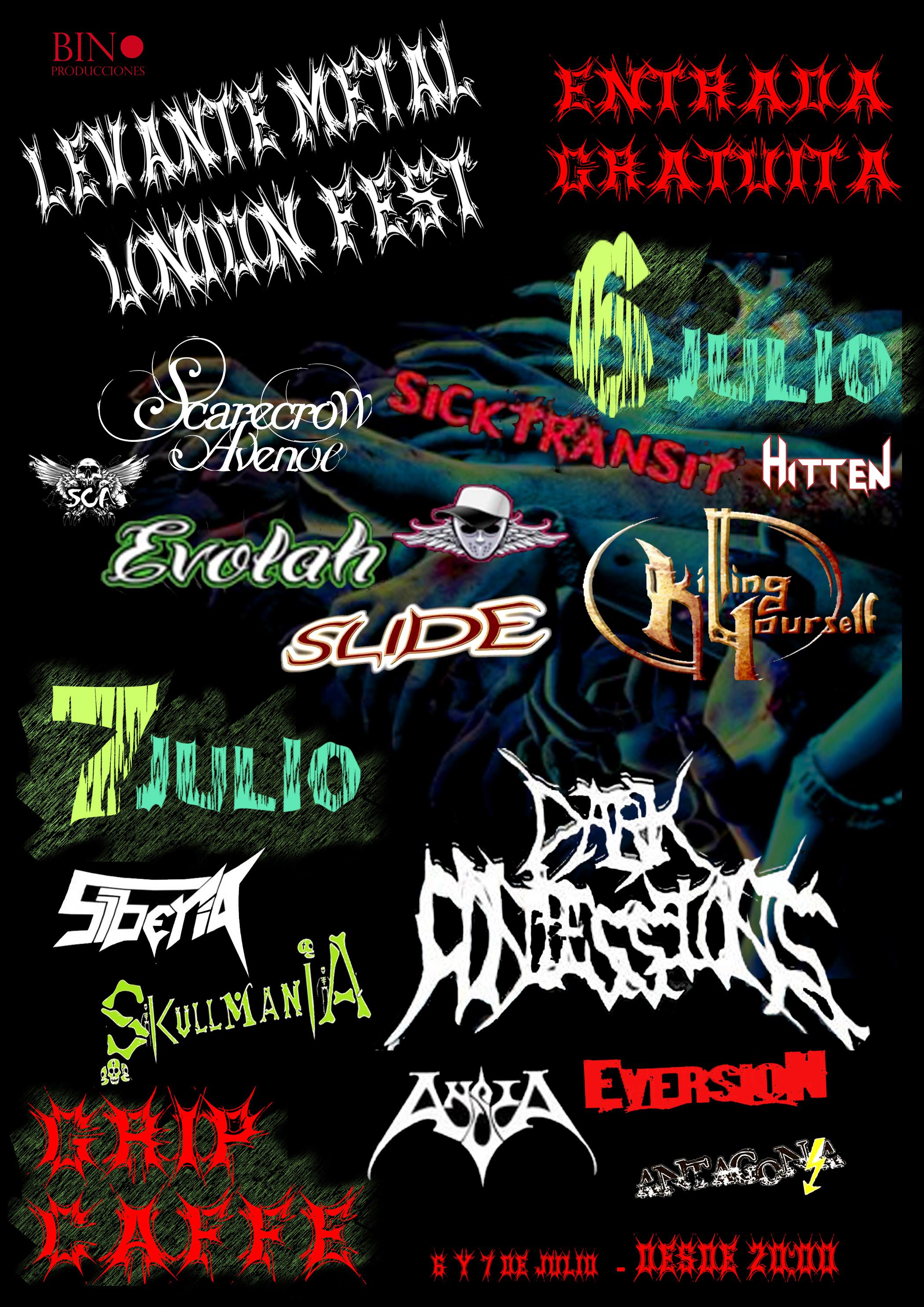 LEVANTE METAL UNION FEST – 6 y 7 de julio en Murcia