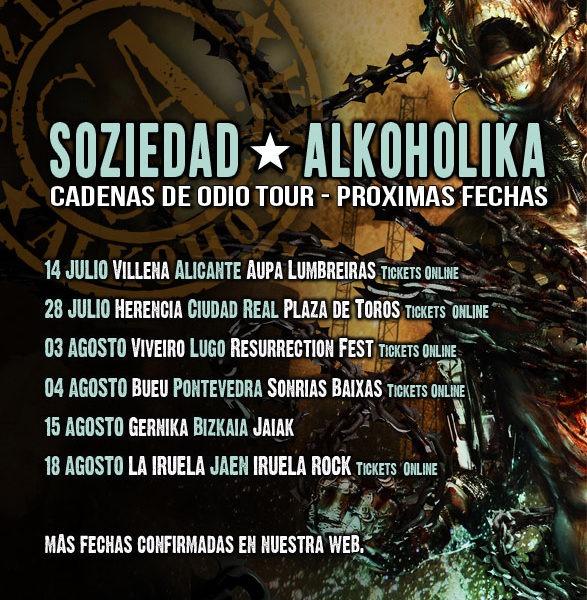 SOZIEDAD ALKOHOLIKA – «Cadenas de odio Tour»