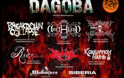 Única fecha de DAGOBA en España tras su pasada gira.