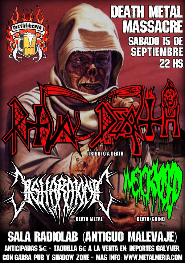 Death Metal Massacre, tributo a DEATH – Organizado por METALMERIA