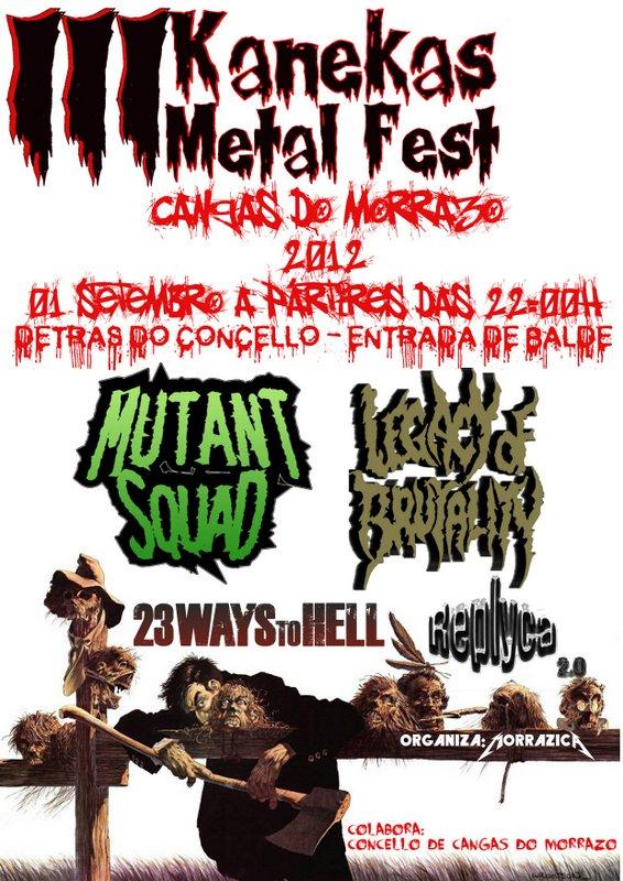 III Kanekas Metal Fest – 1 de septiembre
