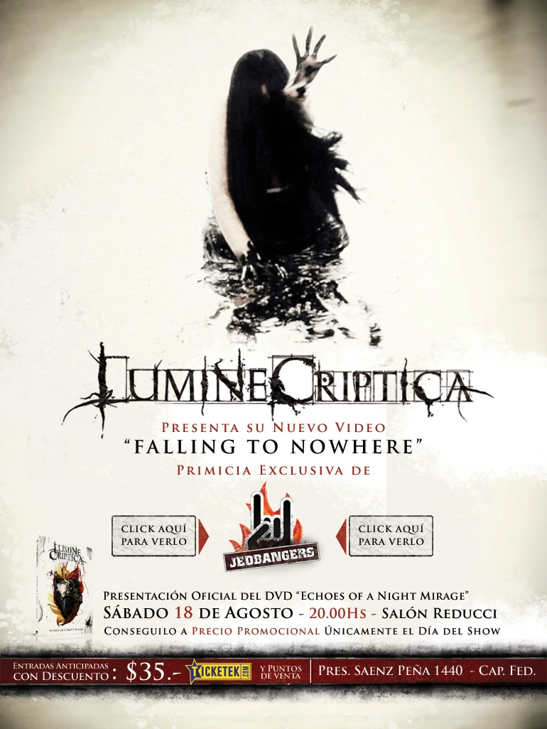 LUMINE CRIPTICA – Nuevo Video clip «Falling to Nowhere» (AGR)