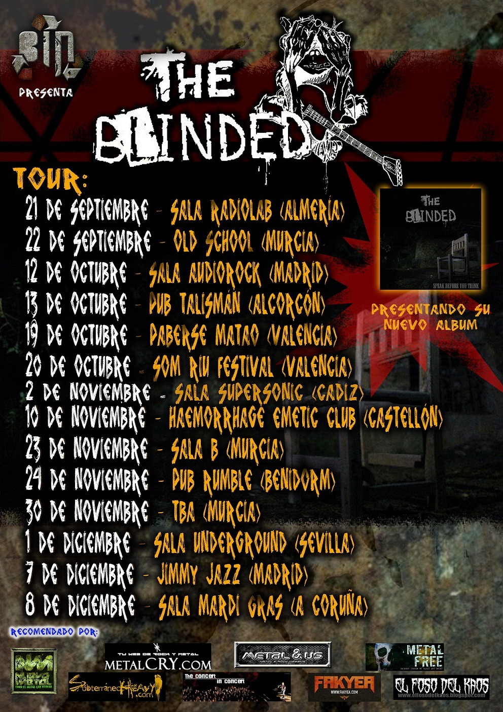 THE BLINDED – Tour speak Before You Think Part II