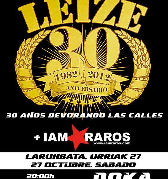 LEIZE – 30 aniversario,concierto en Donostia