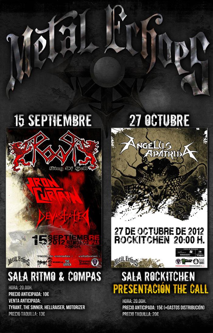 2 nuevas fechas organizadas desde METAL ECHOES.