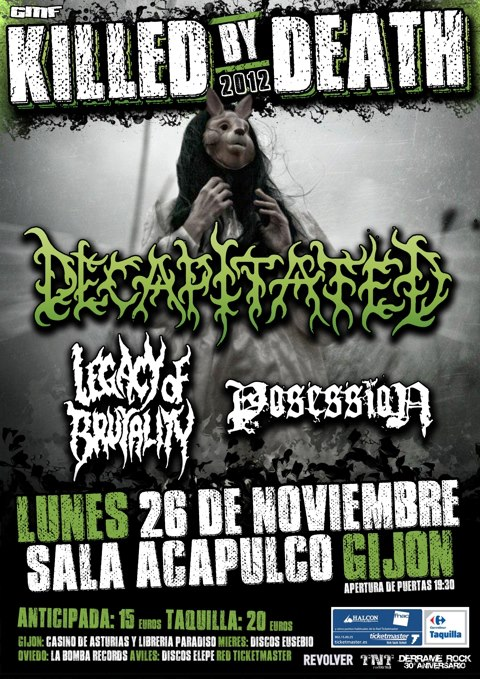 KILLED BY DEATH 2012 – Gijón – 26/11/12