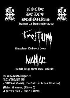 TREITUM + MANIAC – 22 de septiembre en Madrid