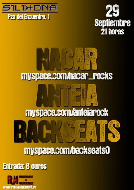 NACAR + ANTEIA + BACKSEATS 29/9/12