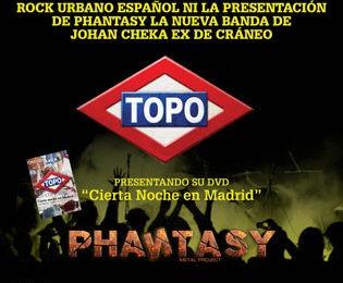 TOPO + PHANTASY – El 11 de octubre en concierto