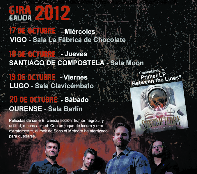 Sons of Meteora – Gira Gallega en Octubre de 2012