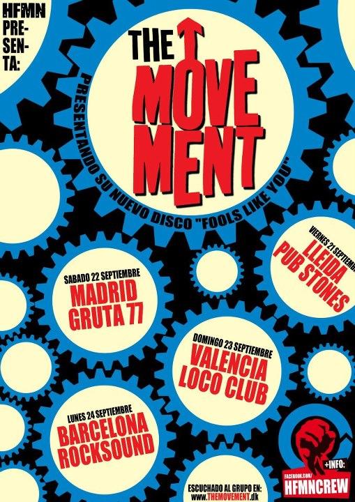 THE MOVEMENT (DK) gira española presentación  «Fools Like You»