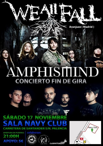 CONCIERTO AMPHISMIND + WE ALL FALL en Palencia