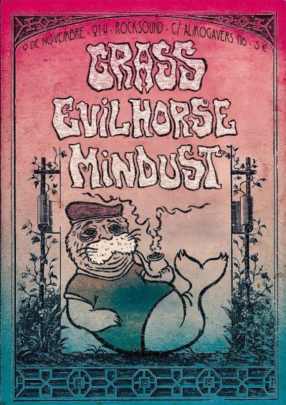 GRASS + EVIL HORSE + MINDUST – 9 de noviembre en Barcelona