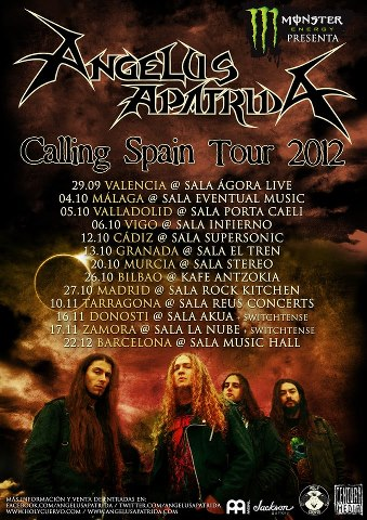 ANGELUS APATRIDA presentan »The Call' en Murcia