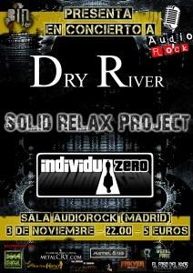 Concierto  de DRY RIVER+ SOLID RELAX PROJECT+ INDIVIDUO ZERO