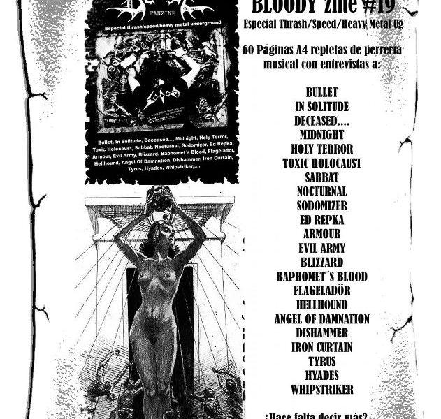 BLOODY ZINE # 19 ya disponible.