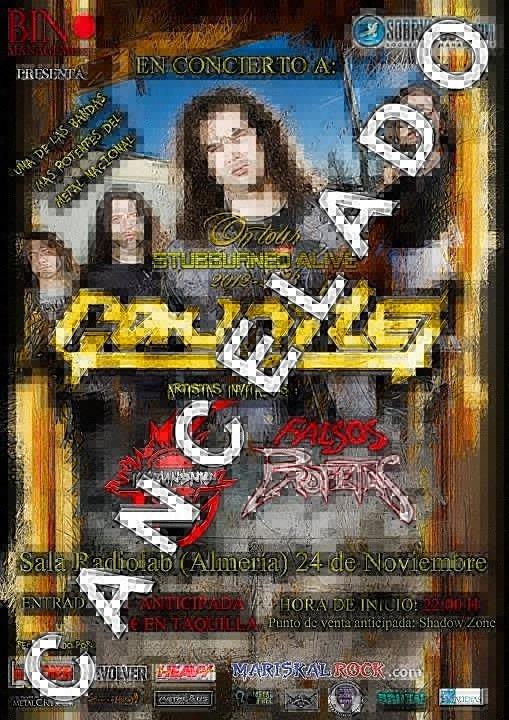 Cancelado el concierto de GAUNTLET en Almería.
