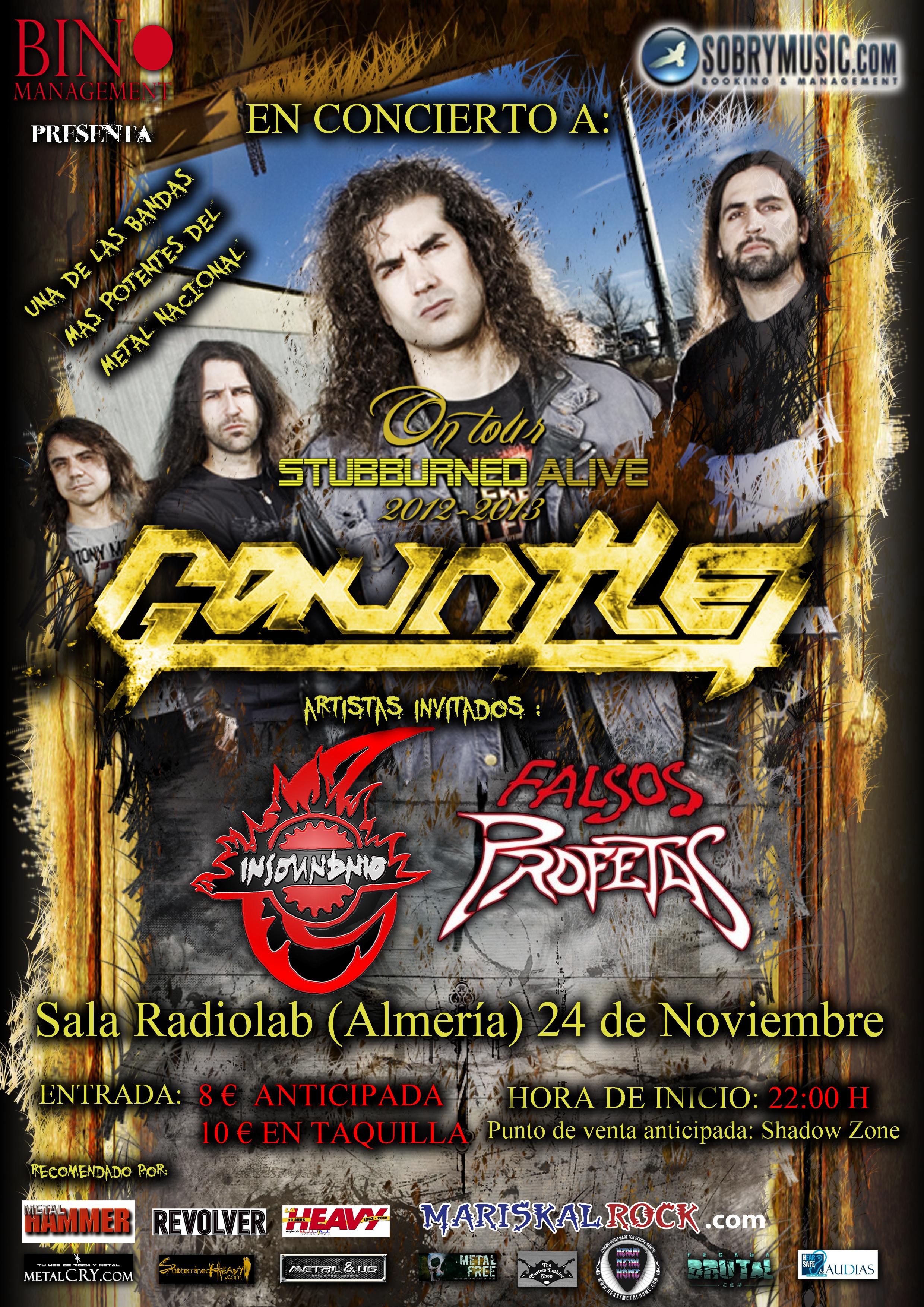 GAUNTLET en Almería el próximo sábado día 24.
