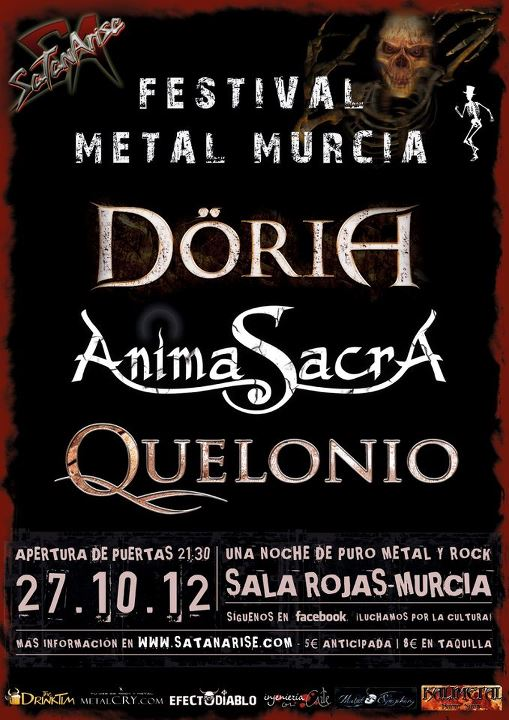 DÖRIA + ANIMA SACRA + QUELONIO – Murcia – 27/10/12