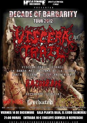 DECADE OF BARBARITY TOUR 2012 – ESTAMPIDA – FESTI-BALAZO