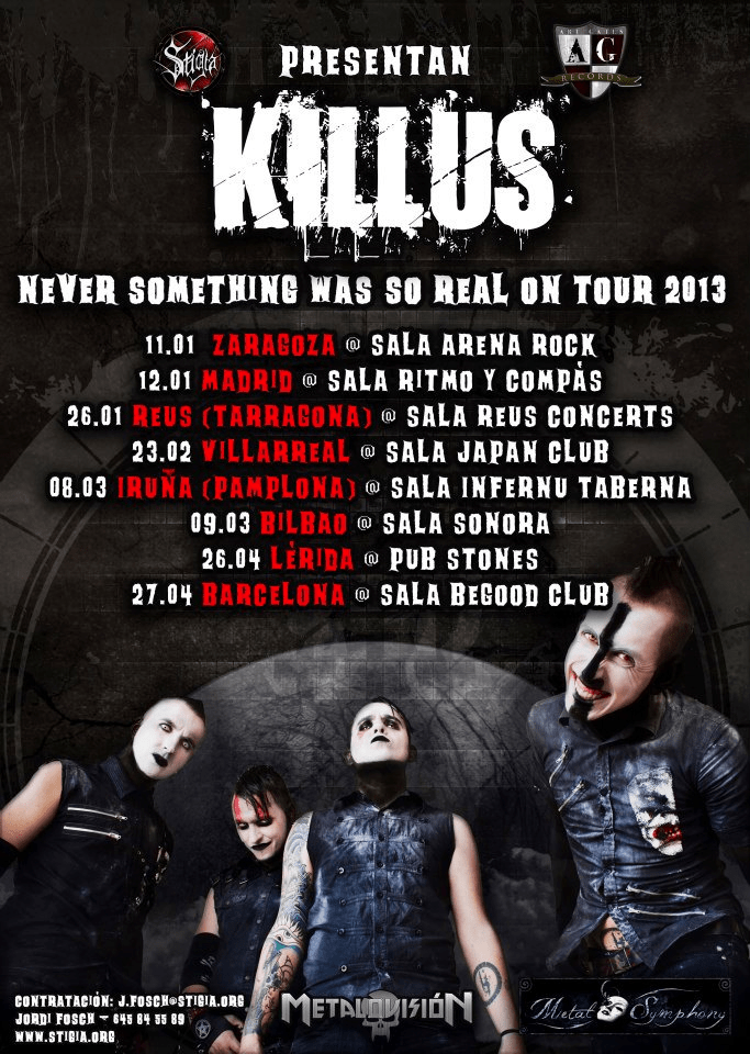 KILLUS presentan su inminente gira nacional.