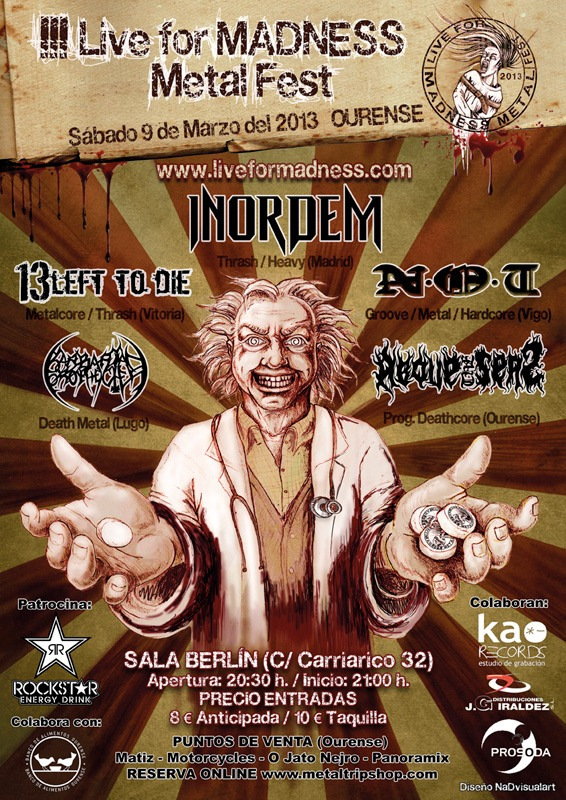 III LIVE FOR MADNESS METAL FEST