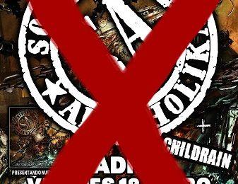 Cancelado el concierto de S.A. en Madrid
