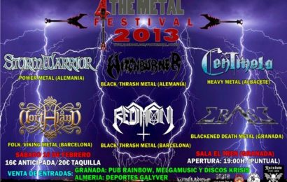 Disponibles los horarios del III FOR THE METAL FESTIVAL