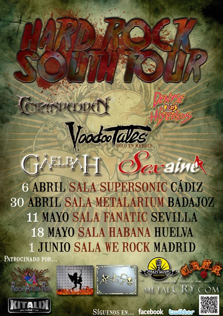 HARD ROCK SOUTH TOUR – 6 de abril
