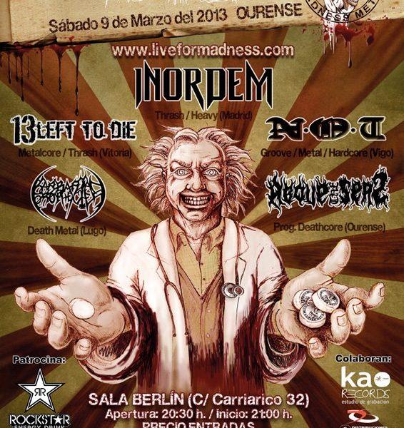 III LIVE FOR MADNESS MetalFest – Sábado 9 de marzo