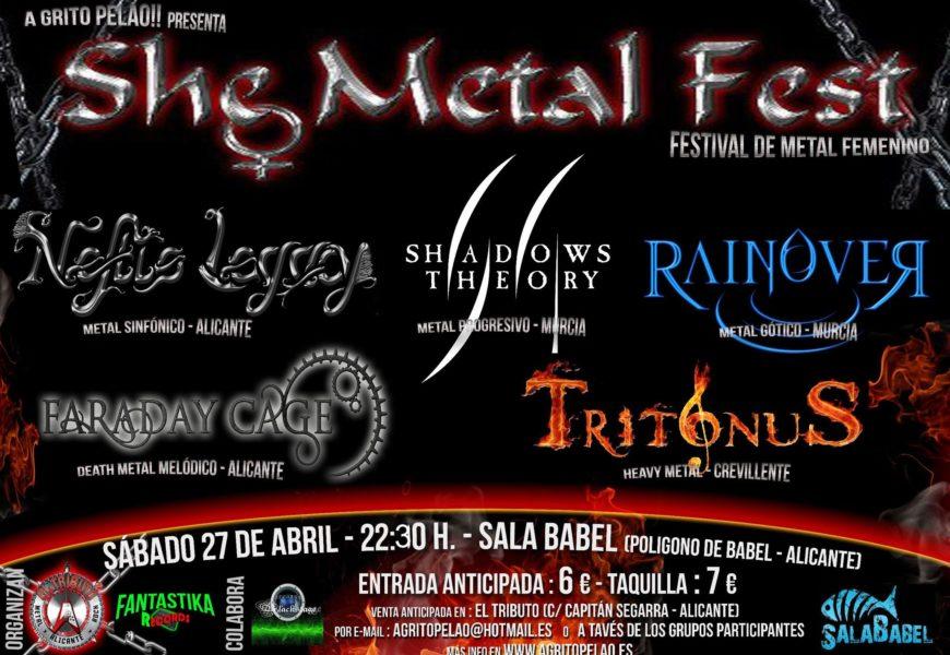SHE METAL FEST – 27 de abril en Alicante