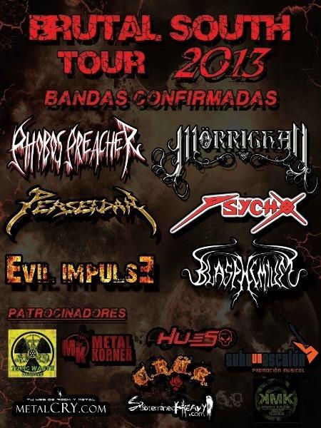 BRUTAL SOUTH TOUR 2013, nuevas confirmaciones
