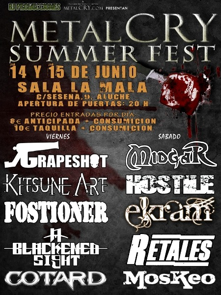 METALCRY SUMMER FEST 2013 – Este fin de semana