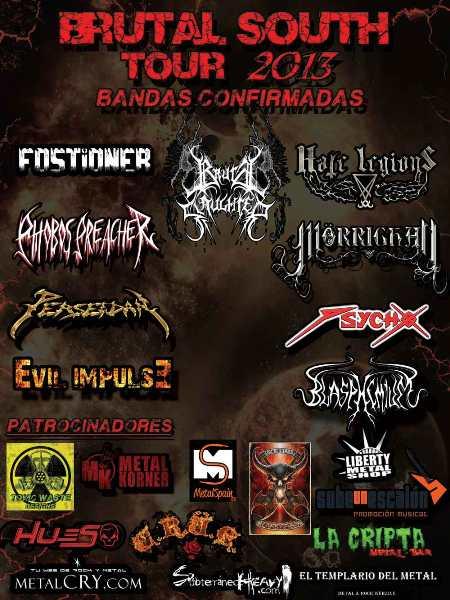 Cartel definitivo del BRUTAL SOUTH TOUR 2013